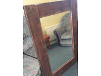 Large Reclaimed Mirror - All treated and looking stunning! Wall hung or part of a mantlepiece