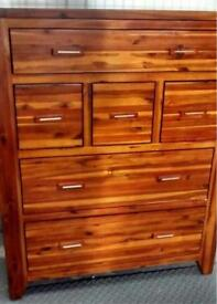 DESIGNER Mark Webster Kember Solid Acacia wood 6 Draw chest