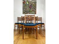 Vintage Mid Century Modern Set of 6 Teak Danish Chairs by Farstrup FREE LOCAL DELIVERY