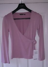 Rohan Womens Mid Pink Softwear Wrap Top Size Small As New Condition
