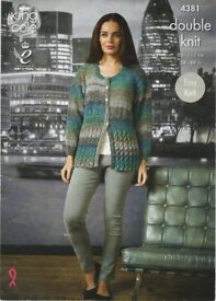 Elegant long, part easy cable buttoned cardigan/jacket