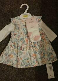Baby girls M&S dress - BNWT- size upto 1 month