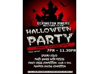 ECKINGTON MINERS WELFARE HALLOWEEN PARTY