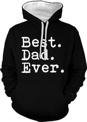 Best Dad Ever Father Papa Christmas Present Birthday Gift 2-tone Hoodie