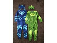 Official Pj mask outfits - cat boy and gecko aged 4-6