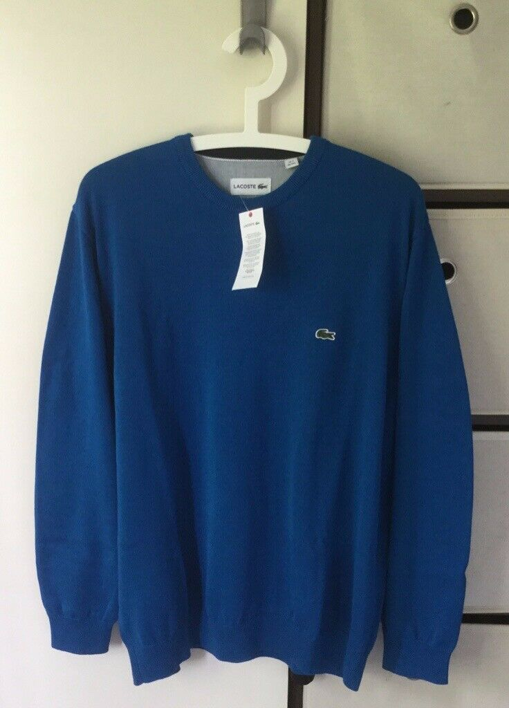 5c7f8244 Men's Lacoste LIVE Crew Neck Cotton Sweater, Brand new with tags | in  Larbert, Falkirk | Gumtree