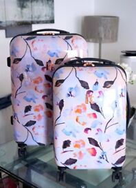 IT Floral & Rose Gold Cabin Suitcase