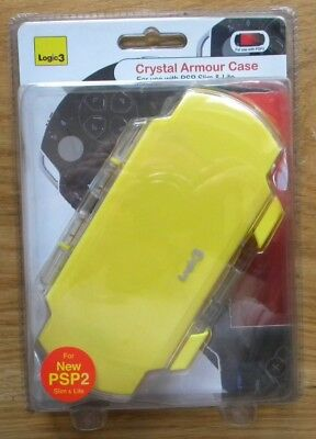 CRYSTAL ARMOUR CASE LOGIC 3 FOR PSP SLIM & LITE GIALLO NUOVO