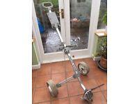 Trolly Master Aluminium full size golf trolley very good condition