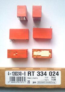 20-Piezas-rele-TE-CONNECTIVITY-SCHRACK-4-1393240-8-RT334024-24VDC-16A