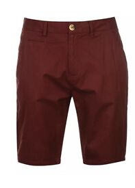 Pierre Cardin Burgandy Chino Shorts (small)