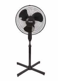 "Hydroponics 16"" Inch Cyclone Rotating Stand Up Office Floor Pedestal Fan UK"