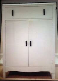 Vintage Art Deco Unit.Top drawer and Double cupboard. All original fittings. Offers please.