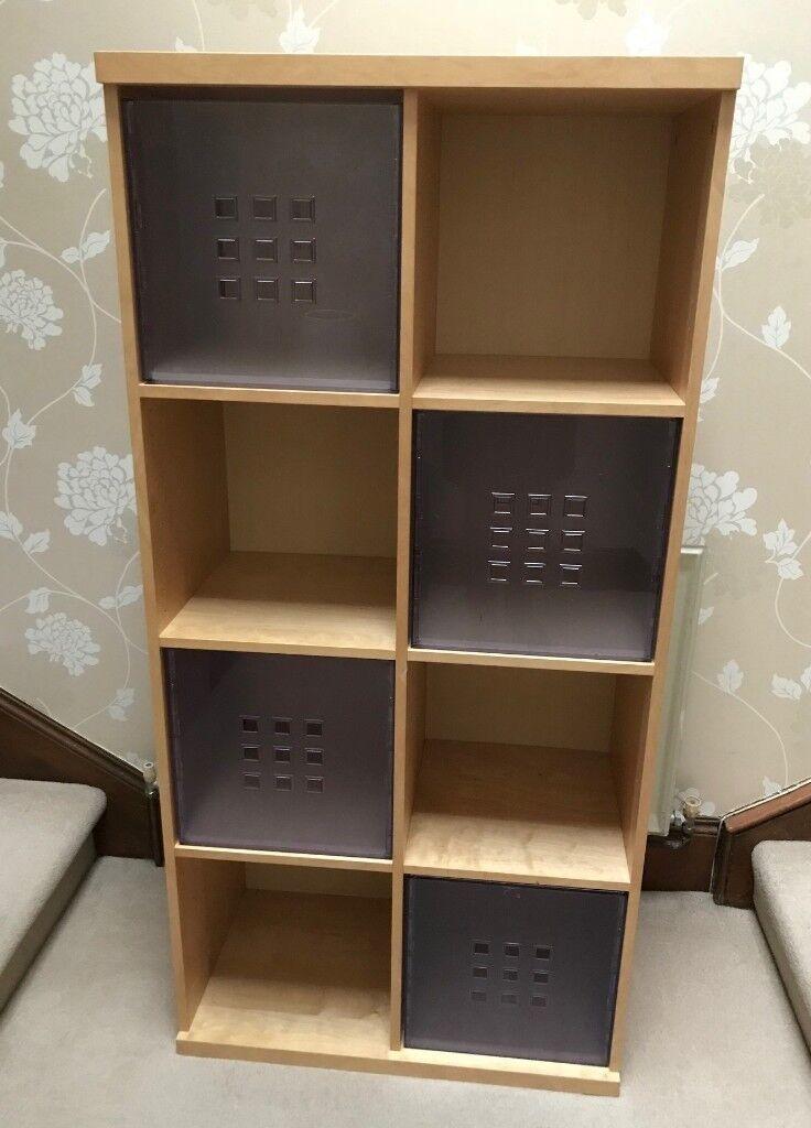 Ikea Bookcase Storage Unit 8 Cube Shelving Unit With 4