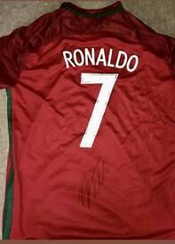 Ronaldo signed portugal shirt 2016 Euro winners