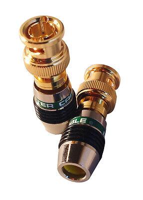 Monster Cable M500 Quicklock BNC Custom Termination Connectors - 10 Pack Monster Cable Quicklock