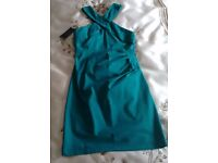 Fitted Halter Dress by Warehouse