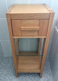 M & S solid oak bathroom unit