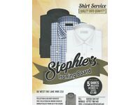 we are offering ironing service and shirt service