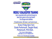 GOALKEEPER COACHING IN PORTSMOUTH