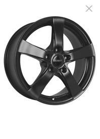 4 x Matt Black Alloy Wheels