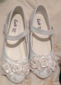 Girls white occasion shoes