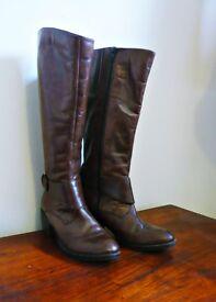 "Tan ""Paradiso-Monk Riding Boots"" Size 6."