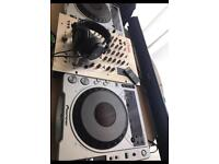 Cdj 800mk2 with vestax pcv275 mixer and extras