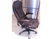 BRAND NEW LUXURIOUS LEATHER OFFICE CHAIR