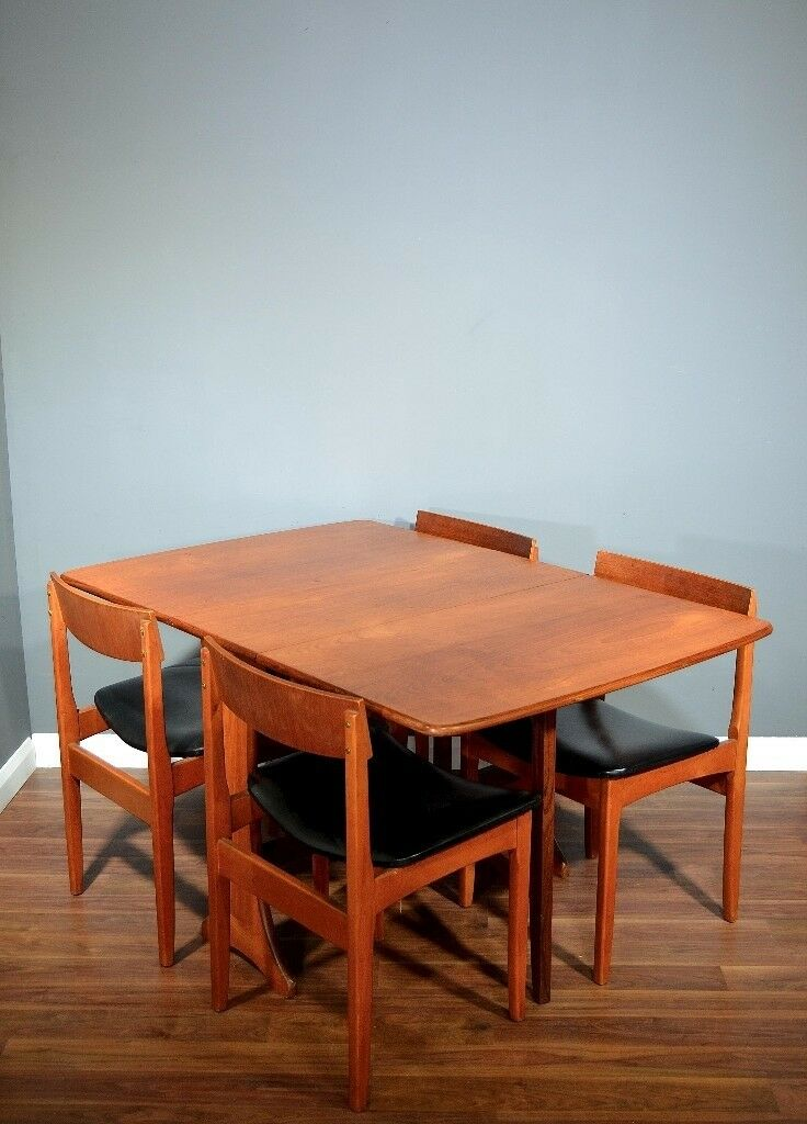 67d105042346 Vintage G Plan drop leaf table and chairs. Delivery. Modern   Midcentury    Danish Style.