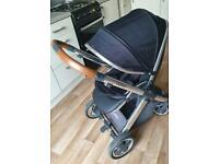 Babystyle Oyster 2 Pram/stroller Black & Tan OTO