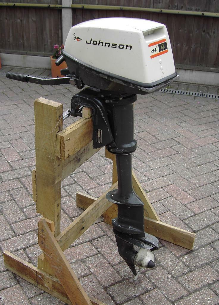 Johnson 4hp outboard for sale in ferndown dorset gumtree for Oil to gas ratio for johnson outboard motors