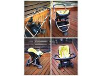 Mama and papa pushchair and car seat