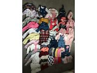 Baby items - clothes, bath, high chair etc