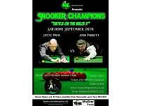 Snooker exhibition tickets x 3