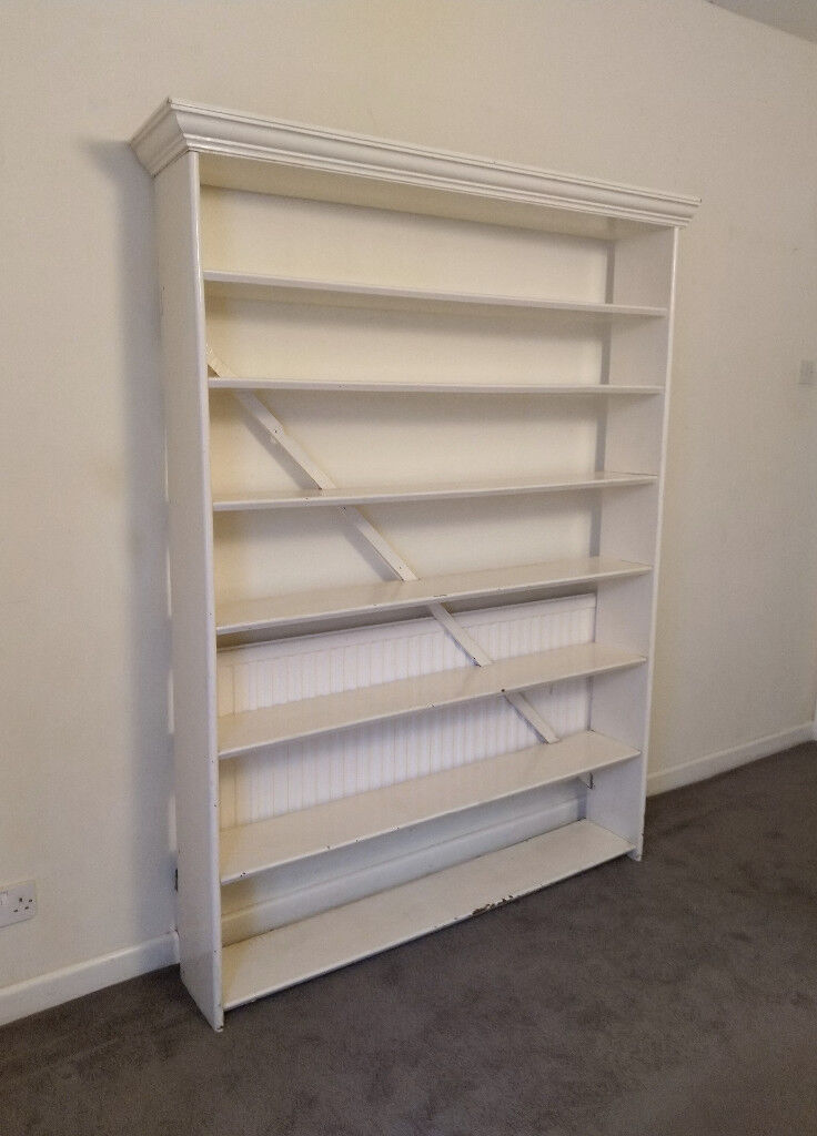 White Wooden Shoe Rack Bookcase Shelving Unit 1 36m Wide X