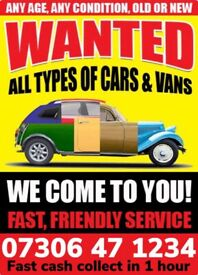 CASH FOR CAR VAN CASH WAITING COLLECT TODAY SELL MY SCRAP