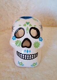 Day of the Dead tealights pair