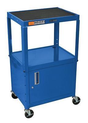 Luxor Steel Adjustable Height AV Cart w/ Cabinet AVJ42C-RB Cart NEW
