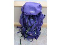 For Sale - Ladies Purple Vango Sherpa 65 Rucksack