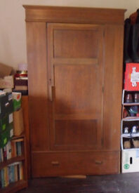 Vintage (1925) Panelled Oak Wardrobe