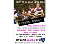 Women's rugby - great for fitness and friends