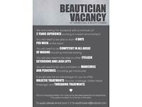 Beautician / Nail Technician Vacancy