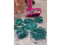 Outdoor Christmas Lights For Large Display with Selection of Multicoloured Bulbs