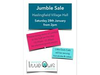 Haslingfield Annual Jumble Sale Saturday 28th January 2017, 2pm