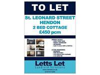 2 BED COTTAGE TO LET: St. Leonard Street, Hendon