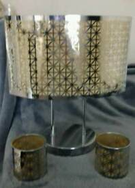 Partylite Enchanted silver lamp and votive holders