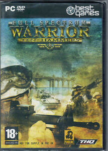 FULL SPECTRUM WARRIOR TEN HAMMERS NEW SEALED PC GAME