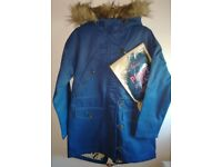 Brand New Ladies 'Ness' lined hooded parka coat Size 8 RRP £119.99