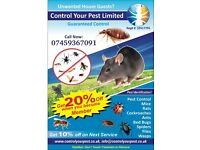 Pest Control service BEDBUGS MICES RATS 24/7 Time which suit you.Call now